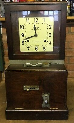 Blick Time Recorder Clocking In Clock Machine Vintage Industrial