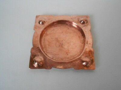 arts and crafts beaten copper ashtray