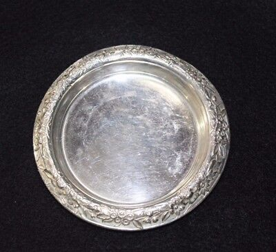 Vintage S.kirk & Son Sterling Silver Repousse Drink Coaster