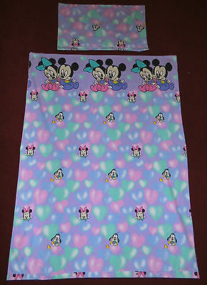 Disney Mickey Minnie Mouse babies Bettwäsche 90er vintage bedding fabric 90s vtg