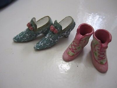 2 pairs of Little miniature shoes