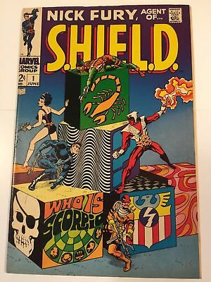 NICK FURY Agent of SHIELD #1 VF/NM 9.0(1968) STERANKO ART 1st Appearance SCORPIO
