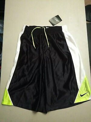 Nike Boys M basketball shorts *nwt* black/white/neon yellow