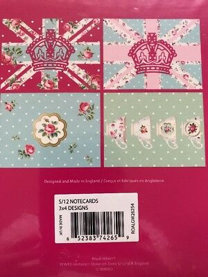 Royal Albert Blank Thankyou Cards & Envelopes, Set Of 12 (3 x 4 Designs)