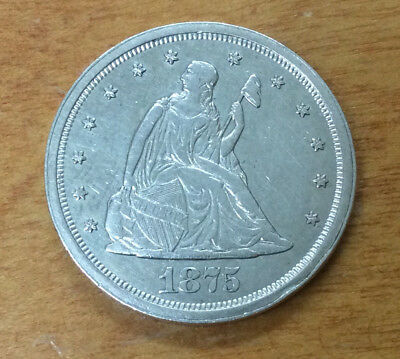 1875-S 20 Cent Piece High Grade .99 Cent Starting Bid ~ Awesome Find! Lqqk>>
