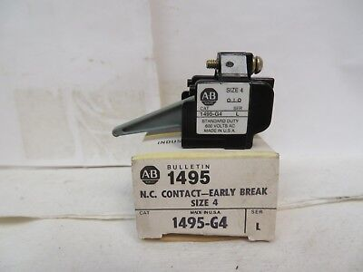 New Allen Bradley 1495-G4 1495G4 Series L Size 4 Auxiliary Contact