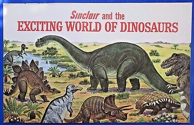 1967 Sinclair and the Exciting World of Dinosaurs Advertising Booklet