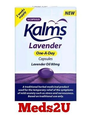 Kalms Lavender Oil 80mg One A Day 14 Capsules Expiry date 2021