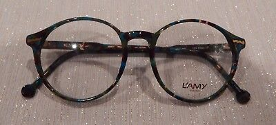 Vintage L'AMY Zoa Col.6486 50/18 P3 Round Eyeglass Frame New/Old Stock