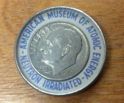 1959 Encased Roosevelt Dime From The American Museum Of Atomic Energy ~ Kool