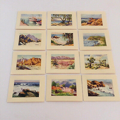 Vonna Owings Webb Landscape Nature Marine River Beach Desert 12 mini cards RARE