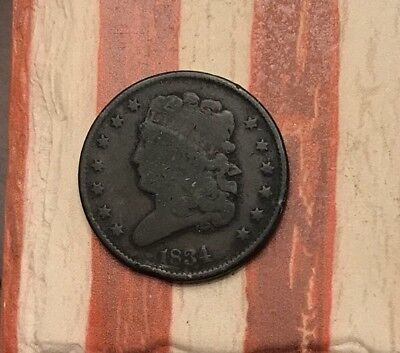 1834 Classic Head Half Cent Vintage US Copper Coin #MP67 Very Rare Key Date