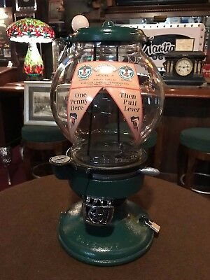 "1920's Columbus Cast Iron Bulk Vending Candy & Peanut Vendor ""Watch Our Video"""