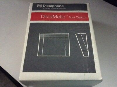 "NIB Dictaphone DictaMatic 142795 Foot Control Pedal ""Pitney Bowes Co."""