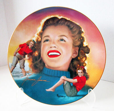 """""""Remembering Norma Jeane"""" Marilyn Monroe """"YOUNG AND CAREFREE"""" Hamilton Plate"""