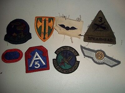 Wwi Wwii Korean War Vietnam Us Army Patch Lot #123