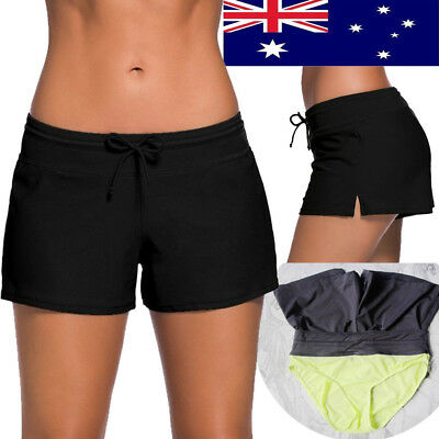 Swim Short Womens Board Swimsuit Ladies Surf Board Bottom Full Coverage Shorts Q