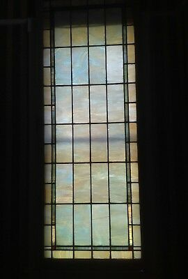 "Pearlescent Vintage Antique Church Leaded Stained Glass Windows Tiles 38""x96"""