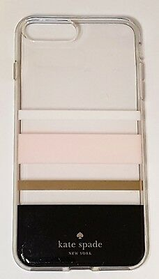 Kate Spade NY Flexible Hardshell Case for iPhone 8 plus, 7 Plus Charlotte Stripe