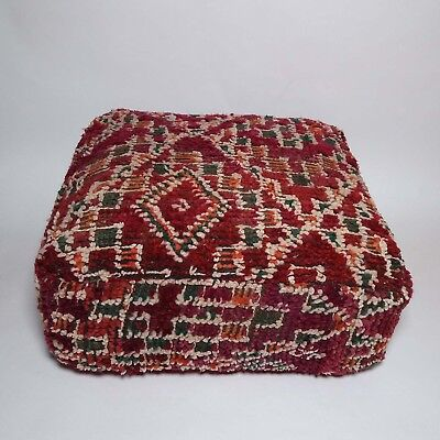 Moroccan vintage berber Boujad floor pillow cover moroccco cushion #38