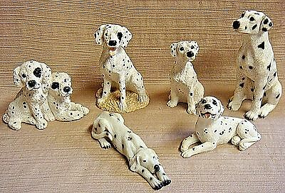 6 Different DALMATIAN FIGURES - 4 Retired UDC STONE CRITTERS - Orig $72.00 +