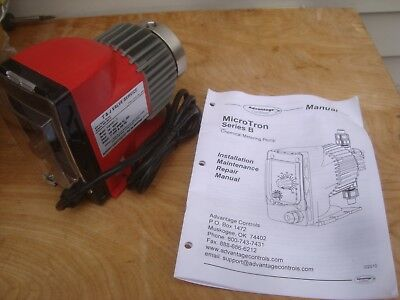 NEW ADVANTAGE CONTROLS MicroTron Series B CHEMICAL METERING PUMP 250 PSI