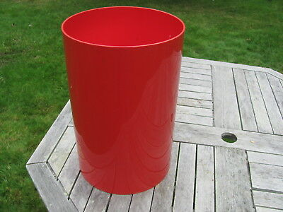 Kartell - MILANO Vintage RED Round TRASH CAN  Design by G Columbini Made in USA