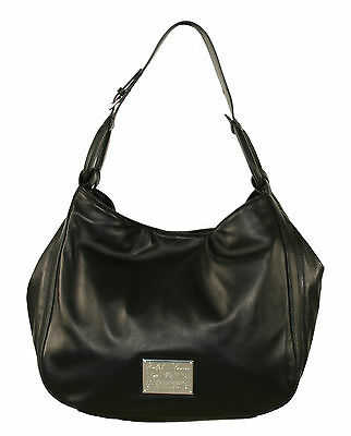 Ralph Lauren Purple Label Black Leather Nappa Stirrup Hobo Bag New $1750