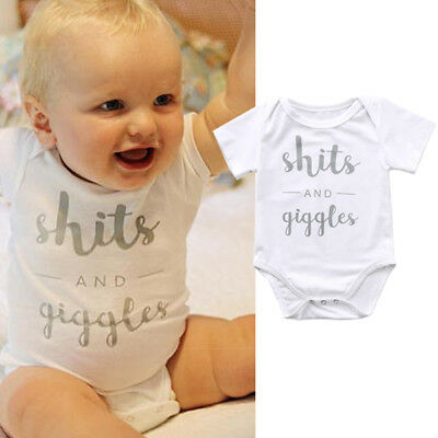 AU Stock Baby Boys Girls Infant Romper Jumpsuit Bodysuit Clothes Sunsuit Outfits