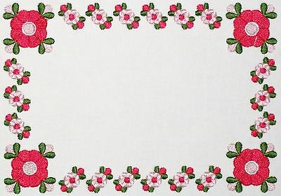 Longhorn Roses /& Thorns Embroidered quilt label to personalize with custom text