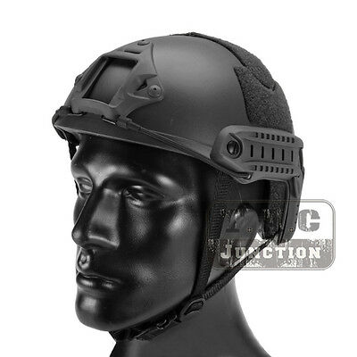 Emerson Tactical Fast Helmet Bump MICH Ballistic MH Type w/ NVG Shroud+Side Rail