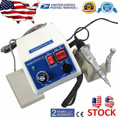 Dental Lab Marathon Electric 35K RPM Micro Motor+Contra Angle Straight Handpiece