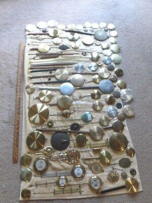 Large Lot of Clock Pendulums Vintage Antique NOS for Mechanical & Qtz Clocks