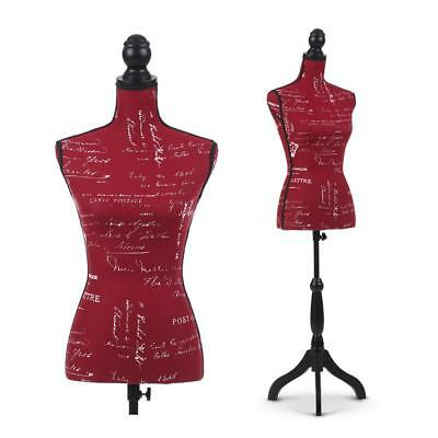Female Mannequin Torso Dress Form Display W/ Wood Tripod Stand Designer Y8R5