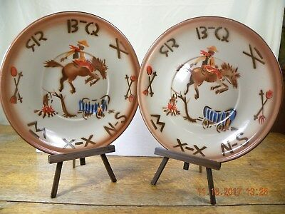 Vintage Tin Plates with Western Motif