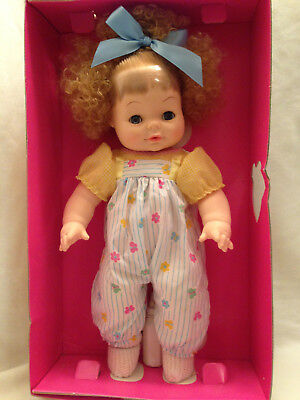 "Vintage Horsman Kim Sofskin 1988 Drinks Wets Washable 15"" Curly Fluffy Hair"