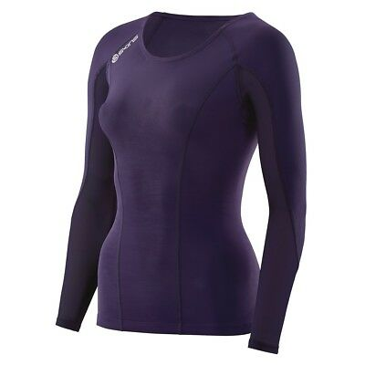 Skins DNAmic Womens Long Sleeve Top - Blackberry - Large