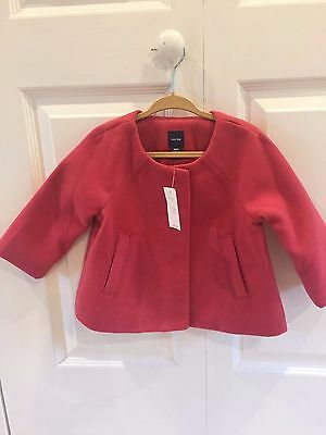 Baby Gap Girls Swing Jacket Coat Rose 12-18M NWT
