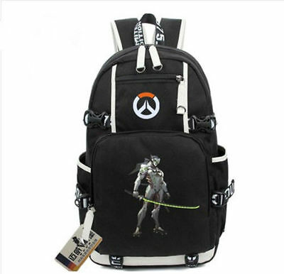 5025613dae24 Game OW Genji Backpack Overwatch School Bags Laptop Bags Free shipping