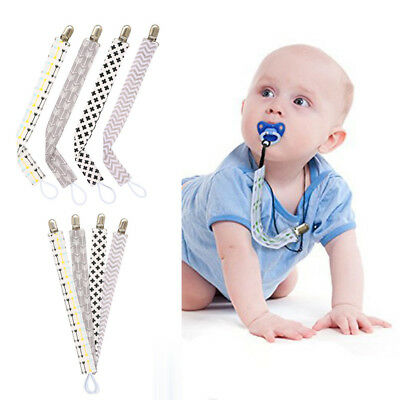 4pcs Baby Pacifier Chain Holder Clips Chain Dummy Nipple Belt Teether Soother