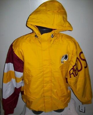 huge discount cd72d 3bfef WASHINGTON REDSKINS STARTER Winter Jacket Coat M Hooded 90's ...