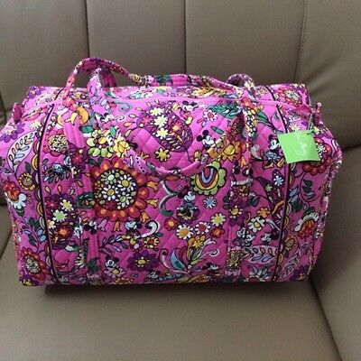 Large Duffel Travel Bag  Mickey Magical Blooms, Safari Sunset, Mocha Rouge