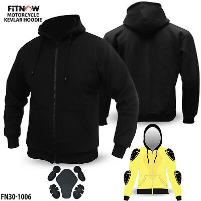 Motorcycle Kevlar Hoodie Hoody Full Protective Armour Lined Protection Fleece