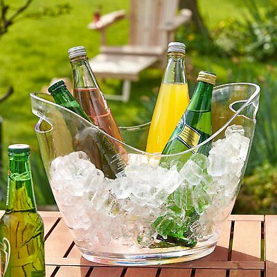 Drinks Wine Champagne Beer Bucket Ice Cooler Large Clear Acrylic 7.5L