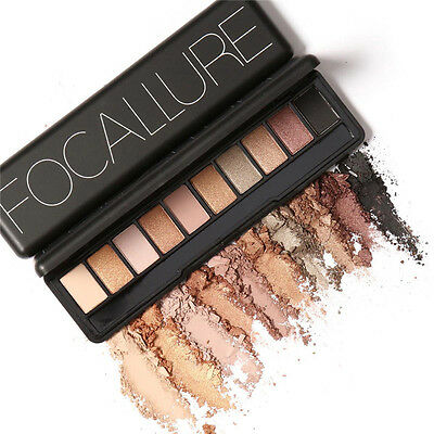 focallure 10-color Sombra De Ojos Ojo Maquillaje Natural BRILLO MATE Paleta