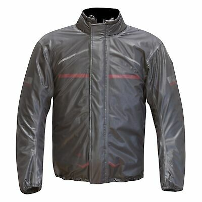 Merlin Reissa Waterproof Rainwear Motorcycle / Bike / Riding Over Jacket - Clear