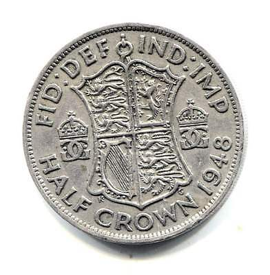 Great Britain 1956 Half Crown Coin United Kingdom England - King George VI
