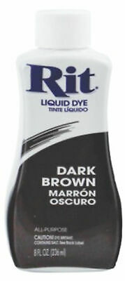 RIT All Purpose Liquid Fabric Dye 236ml (8 FL OZ) DARK BROWN