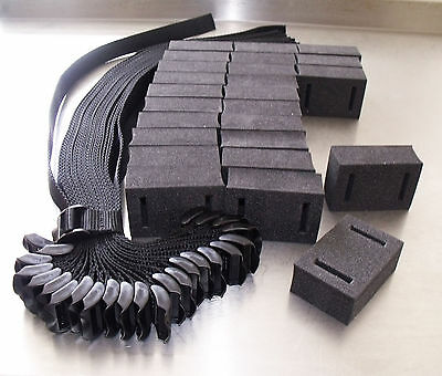 "25 x Heavy Duty Buckle Tree Ties 45cm (18""), UNIQUE Foam Spacers! REUSABLE!"