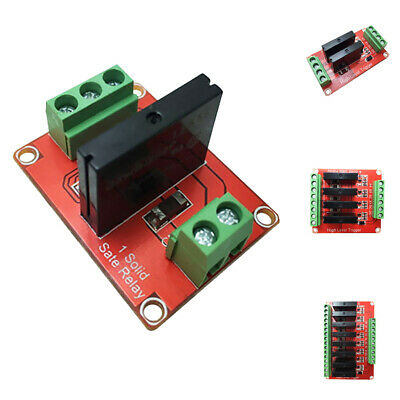 Solid State Relay Module High Level Trigger AC 240V 2A 12/4/8 Way 5-24V Red